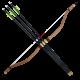 Taegeuk Koren Bow and 3 Arrows Set