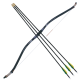 Black Shadow and 3 Arrows Set