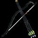 Black Shadow Matt and 3 Arrows Set